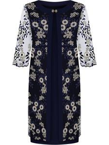 Wieczorowa kreacja Serafina I, elegancka sukienka z koronkową narzutką. - 2857450873
