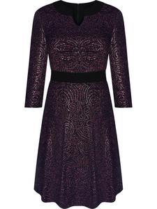 ea87209174 Sklep  mona wizytowa rozkloszowana sukienka z rękawami 164 amarantowa