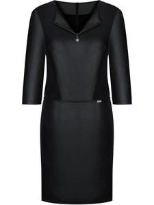 Sukienka w nowoczesnym fasonie Sabina, modna kreacja z ekoskóry. - 2844082193