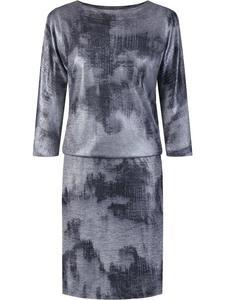 Sukienka damska Alojza I, modna kreacja w fasonie maskującym brzuch. - 2844082226