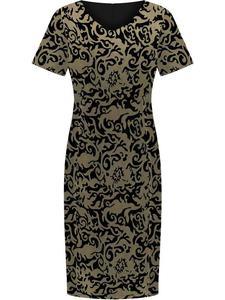 Sukienka damska Ludmira, elegancka kreacja w modnym wzorze. - 2844524453