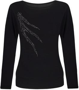 Modna bluzka z aplikacją z cyrkonii Elfryda. - 2846214718