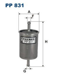 filtr paliwa Citroen C15 Citroen BX Citroen CX I Citroen Visa PP 831 - 2833369125