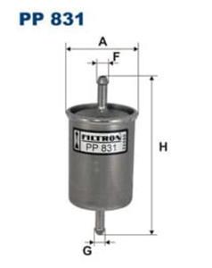 filtr paliwa Citroen XANTIA X1 Citroen ZX N2 Fiat CINQUECENTO PP 831 - 2833369126