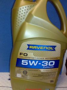 VOLVO V50 1.8F olej silnikowy olej do silnika RAVENOL 5W-30 5W30 FO 5l - 2833369502