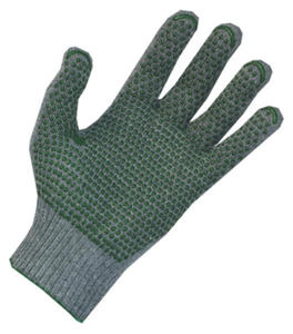 Rękawice bawełniano-poliestrowe EKO, nakrapiane PVC, 200 par, rozmiar 9 - 1735865080