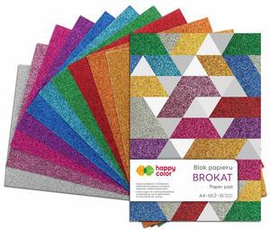 Blok brokatowy kolorowy wycinanka Happy Color A4 10 kartek - 2858923721