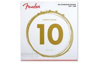 """FENDER struny do gitary akustycznej 70 XL .10""""- 48"""" - 1745880962"""