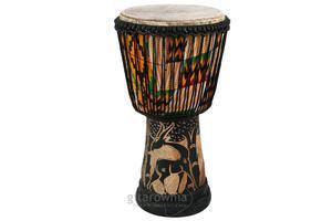 """afrykański bęben Djembe 11 """" ręcznie drążony - 1745882493"""