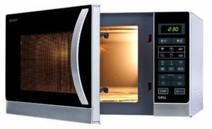 Kuchenka mikrofalowa SHARP R742(IN)W / grill kwarcowy / zegar / 8 programów / program grill+mikrofale - 2858616664