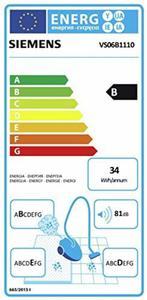 Odkurzacz workowy SIEMENS VS06B111 / 600 W / zasięg 9 m / Regulacja mocy - 2857507737