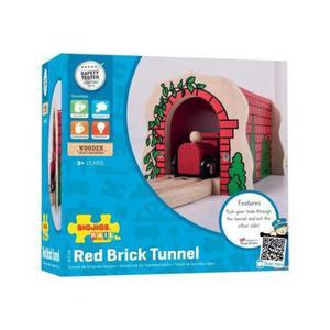 Tunel kolejowy z czerwonych cegieł do kolejki - 2838738966