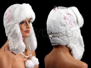 Ciepła zimowa czapka uszatka U20 - 2824779209