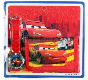 Portfel dziecięcy + zegarek Samochody - Cars - 2839066730