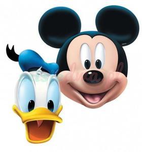 Maski MYSZKA MICKEY 2 Myszka + 2 Kaczor Donald - 2855556788