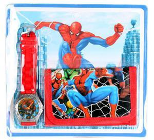 Zegarek na rękę i portfel Spiderman super jakość! - 2857457979