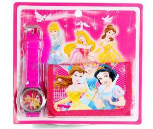 Zegarek na rękę i portfel Disney Księżniczki - 2836487913