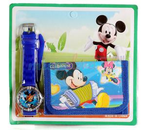 Zegarek na rękę i portfel Myszka Micky - 2837255322