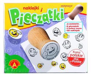 STEMPELKI - BUŹKI Stemple drewniane 6 szt. + akces - 2847022617