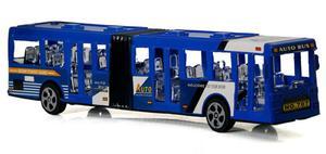 Przegubowy miejski Autobus 23 cm - niebieski - 2858256135