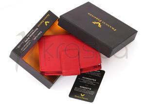 Franco Firenze damski portfel skora FF2 czerwony - 2824779116