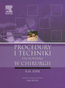 Procedury i techniki stosowane w chirurgii - 2848585832