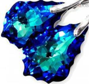 PROMOCJA NOWE SWAROVSKI kolczyki BAROQUE BLUE - 2852706159