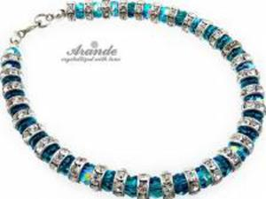 Swarovski Elegancka Bransoletka BLUE ZIRCON - 2824146630