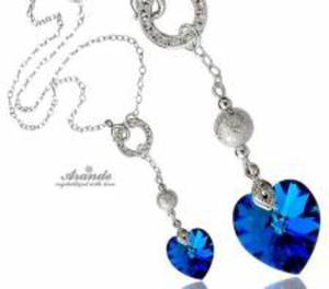 NOWE SWAROVSKI NASZYJNIK CRYSTALEAR BLUE SREBRO - 2852707562