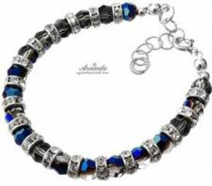 Swarovski Elegancka Bransoletka BLUE NIGHT - 2824149767