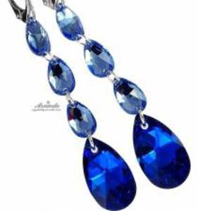 SWAROVSKI KOLCZYKI BLUE COMET GLOSS SREBRO - 2852707681