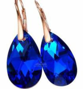 SWAROVSKI kolczyki BLUE COMET RÓŻOWE ZŁOTO SREBRO - 2850370328