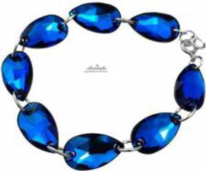 Swarovski Piękna Bransoletka BERMUDA BLUE SREBRO - 2852707843