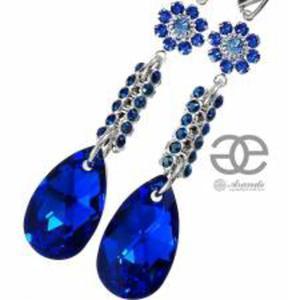 SWAROVSKI Kolczyki BLUE CRYSTALLIZED SREBRO - 2824150298