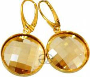 SWAROVSKI piękne kolczyki GOLDEN ZŁOTE SREBRO - 2824150426