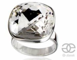 SWAROVSKI piękny pierścionek CRYSTAL SQUARE SREBRO - 2848036297