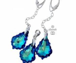 SWAROVSKI KOMPLET BERMUDA BLUE SREBRO - 2858080207