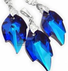 TYLKO U NAS SWAROVSKI komplet BLUE LEAF LONG - 2824146884