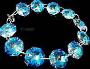 HIT Bransoletka SWAROVSKI BLUE AURORA certyfikat - 2858403012