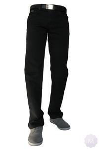 b38b818acf0ae1 Elastyczne męskie czarne spodnie jeansowe długość 34 (QD-1) - 34, KINGBON.  Elastyczne męskie spodnie z prostą nogawką.