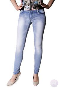 a06e213d31cb42 Damskie spodnie rurki jeansowe wycierane wyższe biodrówki (Y253) -  2825258620
