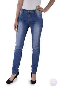 a0bba0c902fa55 Sklep: Mercerie.pl. Damskie spodnie jeansowe rurki z wyższym stanem  niebieskie - 2825258626