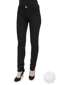 d024aa5ecf6fa4 Sklep: Mercerie.pl. Damskie spodnie jeansowe czarne lekko zwężane z wysokim  stanem Miss RJ - 2878642181
