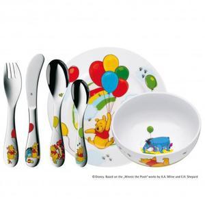 WMF Zestaw dla Dzieci - Sztućce + Porcelana - Kubuś Puchatek - 2837615339