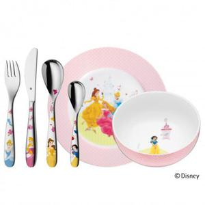 WMF Zestaw dla Dzieci - Sztućce + Porcelana 6 El. - Księżniczki Disney - 2837615343