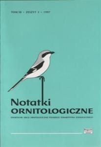Notatki Ornitologiczne 38 (3), 1997 - 2832901518