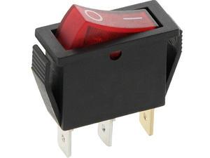 Przełącznik klawiszowy podświetlany 2 pozycje 3 pin MK-111 czerwony 220v - 2060690916