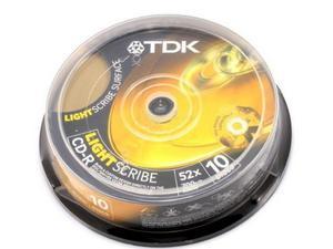 Płyta CD-R 700MB, 80min, TDK Lightscribe bez opakowania - 2060691343