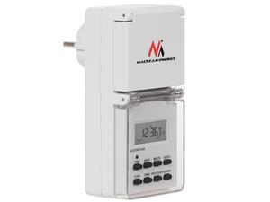 Timer cyfrowy zewnętrzny Maclean Energy MCE08 10 programów funkcja losowa 3600 W max 156 programów - 2060692751