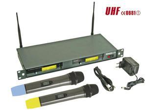 8-KANAŁOWY BEZPRZEWODOWY SYSTEM DWÓCH MIKROFONÓW PLL - Z WYŚWIETLACZEM LCD - 2060694532